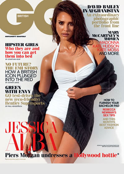 jessica alba gq uk. Jessica Alba is the cover star